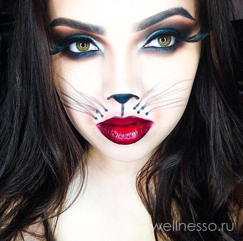 кошка Halloween makeup