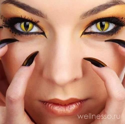 макияж кошки с вытянутыми зрачками