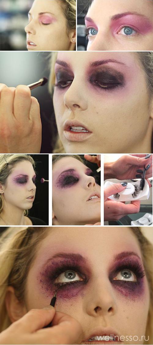 ведьма на хэллоуин макияж