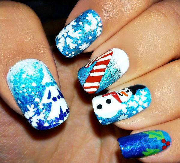 новогодние идеи для ногтей