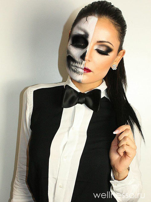 скелет Halloween makeup