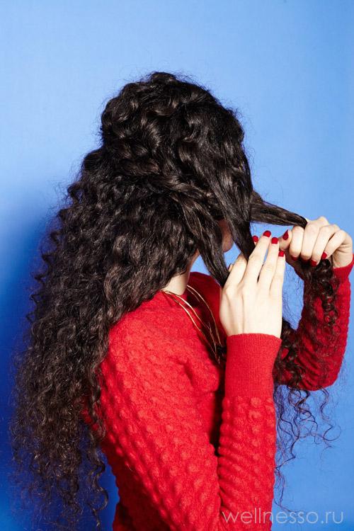 Продолжайте плетение косички