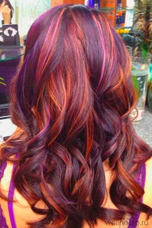 Длинные мелированные волосы