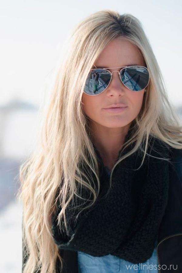 Фото девушки с темными волосами зимой