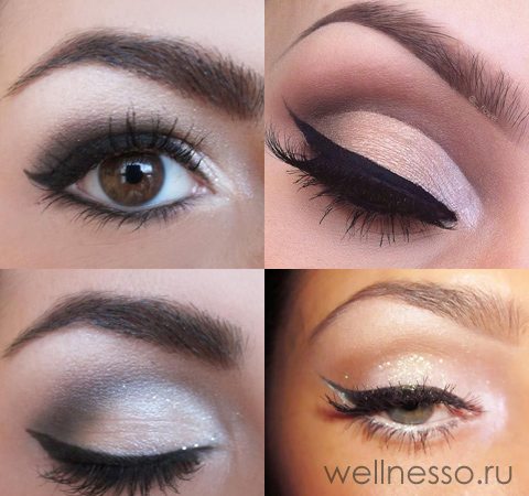 Карие глаза с серебром