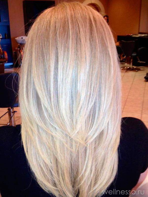 длинные Волосы ровняются полукругом