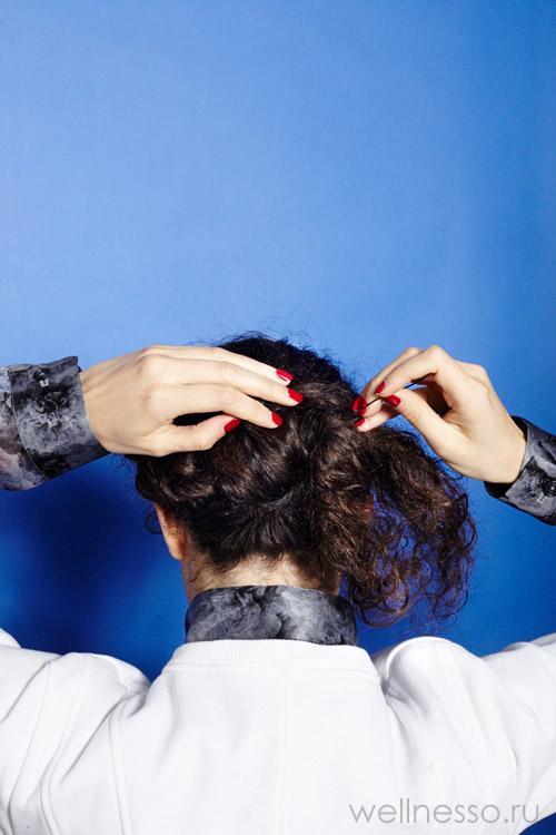 Накручивайте кончики волос