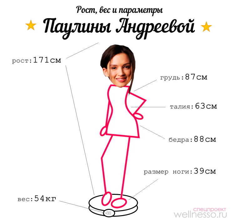 андреева рост вес параметры