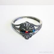 браслет в греческом стиле с цветными камнями