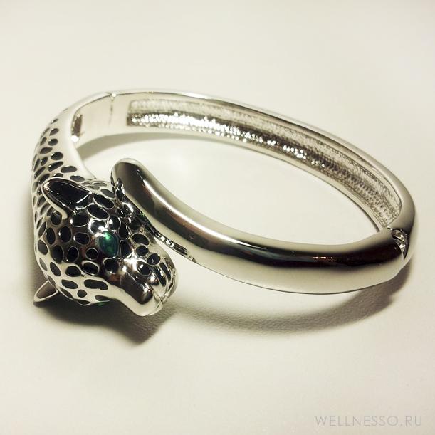 Серебряный браслет-обруч