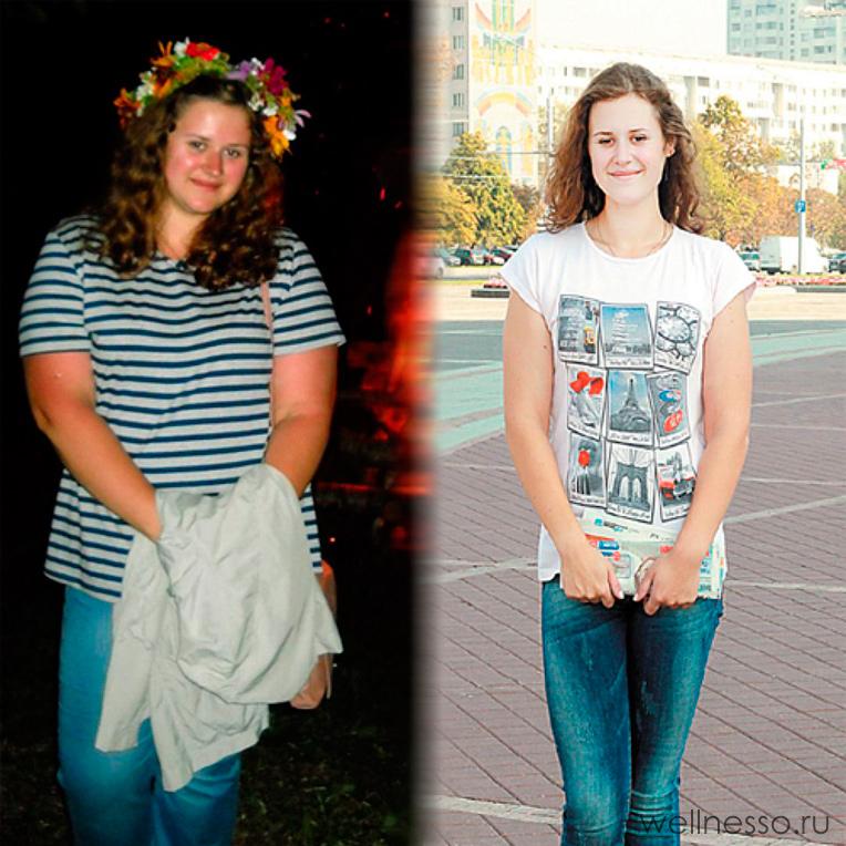 Результат похудения по меню Любимой