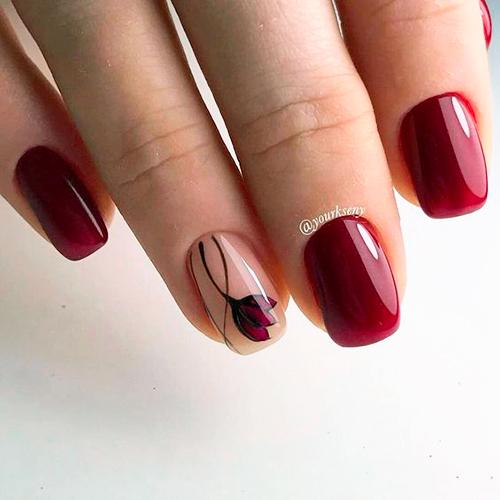 Покрытие ногтей гель-лаком на короткие ногти фото дизайн 2018