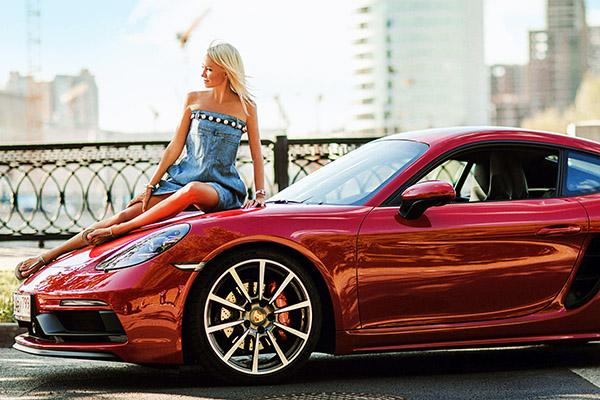 Рудковская с новой машиной